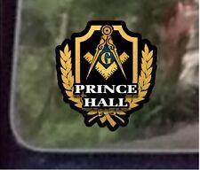 "ProSticker 103 (One) 4"" Masonic Freemason  Prince Hall Decal Sticker Lodge"