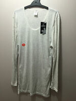 BNWT Ladies Sz 14 Jockey Brand Pale Grey Long Sleeve Warm Thermal Top RRP $38
