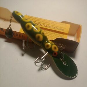 """Vintage Original Bomber 4"""" Water Dog Rattler Fishing Lure Frog w Box & Insert"""
