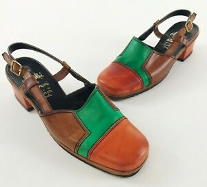 Amalfi Rangoni Shoes Women's Vintage 70's Italian Made Leather Size Unknown 7?