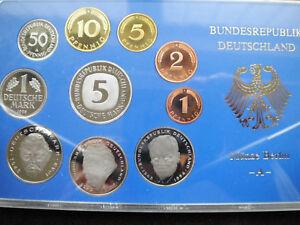 """KMS Deutschland 1995 """"A"""" in PP Kursmünzensatz Sammlerstück 10 Münzen 1 Pfg- 5 DM"""