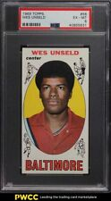 1969 Topps Basketball Wes Unseld ROOKIE RC #56 PSA 6 EXMT