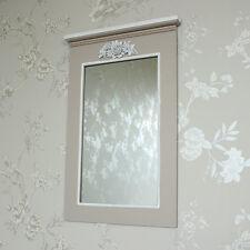 Wooden ornate rose wall mirror mushroom shabby vintage chic ornate pretty home