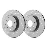 2 FRONTS Black Hart *DRILLED /& SLOTTED* Disc Brake Rotors F1116