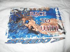 "Speedo MICHAEL PHELPS ""Race to Win"" OLYMPIC SUMMER GAMES (LG) T-Shirt"