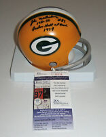 PACKERS John Martinkovic signed mini helmet w/ 1951-56 & PHOF74 AUTO Autographed