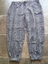 BNWNT Women's Target Black & White Viscose Harem Pants Size 18