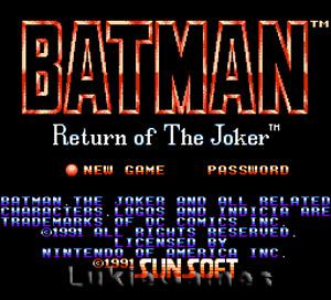 Batman Return Of The Joker - NES Nintendo Game
