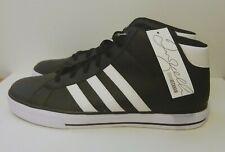 Adidas Neo David Beckham Black Leather Neo Daily Mid DB Black White US 13 U46123
