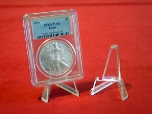 """~12 Best Value 2-1/8"""" Display Stands For Challenge Coins in PCGS NGC Case"""