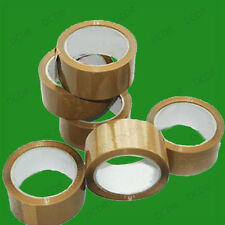12x Rolls Low Noise, Brown Parcel Packaging Tape 48mm x 66m, Packing