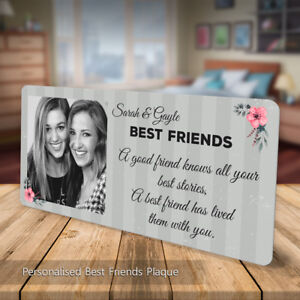 Personalised Friendship Plaque Best Friends Metal Sign Custom Gift Friend Quote