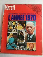 N1943 Magazine Paris-Match N°1131 9 janv 1971 drame joies deuils Annee 1970