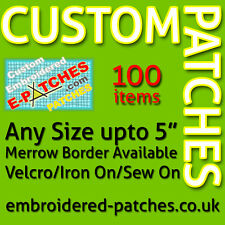 More details for 100 custom embroidered patches/badges - best quality - merrow border - any size