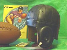 1940 Black Chicago Bears style  Leather Football Helmet