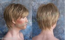 Dark Blonde Mix Short Layered Mens Wispy Tips Jason Wig