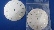 lot de 2 anciens cadrans de reveil pendulette en metal brossé zenith 7cm