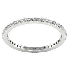 VS1 F Eternidad Boda Natural Anillo con Diamante 0.55Carat 14kt Oro Blanco