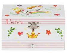 Unicorn Musical Jewellery Box Trinket Girls Keepsake Fashion Mirror Pop Up
