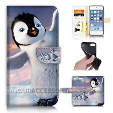 ( For iPod Touch 6 ) Wallet Flip Case Cover AJ40697 Penguin