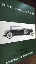 PROFILE PUBLICATIONS CAR #6: THE DUESENBERG J & SJ (1966)