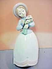 Retired Blossom Time Female Figurine By Lladro Porcelain Retired #6869