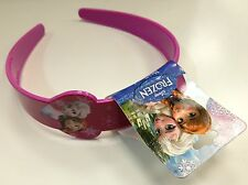 DISNEY FROZEN CHILDRENS PLASTIC WIDE HEADBAND - ELSA & ANNA - NWT