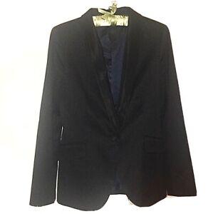 Zara Basic Black Tuxedo Jacket, Size Large