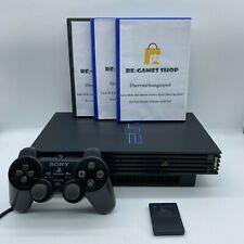 Sony Playstation 2 PS2 FAT Schwarz Konsole + Gratis Controller +1 Spiel + Kabel