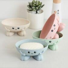 Cute Plastic Drain Soap Box Holder Portable Home Bathroom Supplies Accessories