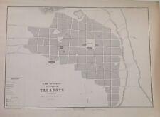 PERÚ,plano de la ciudad de Tarapoto..Paz Soldán.Geografía del Perú 1865.