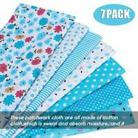 7PCS Square Fabric Bundle Cotton Patchwork Sewing Quilting Tissues Cloth DIY