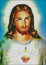 "Goldmilky Cross stitch kit ""Sacred Heart of Jesus'' 12x16 inch (a30)"