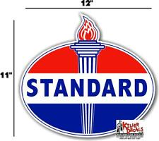 """12"""" OLD style  STANDARD TORCH GAS PUMP OIL TANK DECAL"""