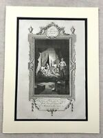 1791 Print Murder of Princes in the Tower of London Original Antique Engraving