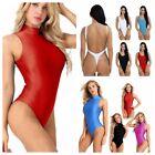 Spandex Women's One Piece Swimsuit Monokini Thong Leotard Bodysuit Bathing Suits