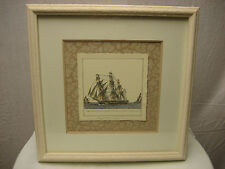 Kinder Harris Inc Framed Art Small Harbor Ships Piece 2 Style 1338  Retail $159