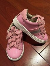 Gucci Girl Baby Toddler Sneakers Shoes Leather Pink 21 5