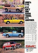 1983 GMC Truck S-15 and Jimmy Original Advertisement Print Art Car Ad J708