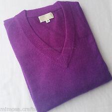 100% Cashmere Mens V-neck Sweater A Grade Nepalese Pashmina Jumper Top Pullover