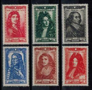 (b31) timbres France n° 612/617 neufs** année 1944