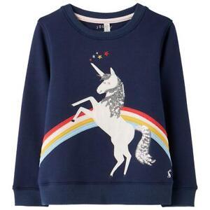 Joules Girls Mackenzie Artwork Sweatshirt Unicorn Ages From 2 To 8 Years