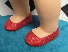 """Doll Shoes, 66mm*  Ruby Slippers  fits American Girl 18"""" Factory Sample!"""