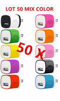 50xColor 1A USB Power Adapter AC Home Wall Charger US Plug FOR iPhone universal