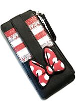 Disney Parks Minnie Mouse Dot Bow Stack Credit Card Zipper Wallet Billfold - NEW