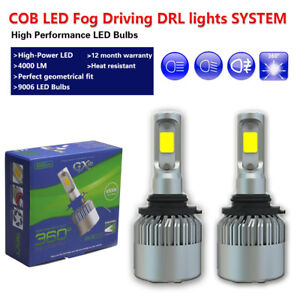 White 9006 HB4 COB LED Car Fog Lights Driving Lights Fit Infiniti G35 G37 Sedan