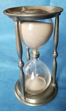 Vintage pewter hourglass