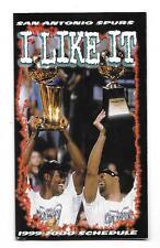 1999-00 San Antonio Spurs Multi-Fold Pocket Schedule-Taco Cabana!