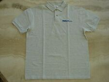 NWOT HANES Polo Style Gray Grey SS Med411.Com Shirt M