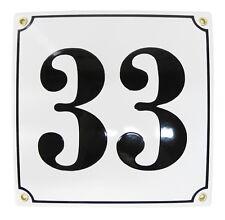 Hausnummer Hausnummernschild Emaille 20x20 cm mit Wunschnummer Premiumqualität